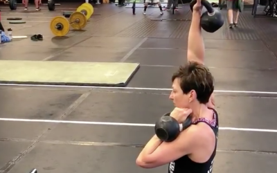 Alternating Kettleball Z-Press