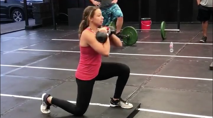 Kettlebell Rack Drop Lunges